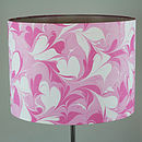 Candyfloss Hand Marbled Silk Lampshade