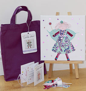 Children's Purple Fairy Canvas Craft Kit