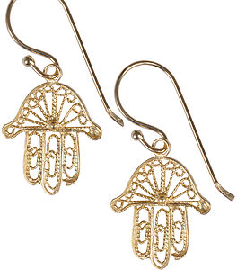 Fatima Gold Plated Earrings - earrings