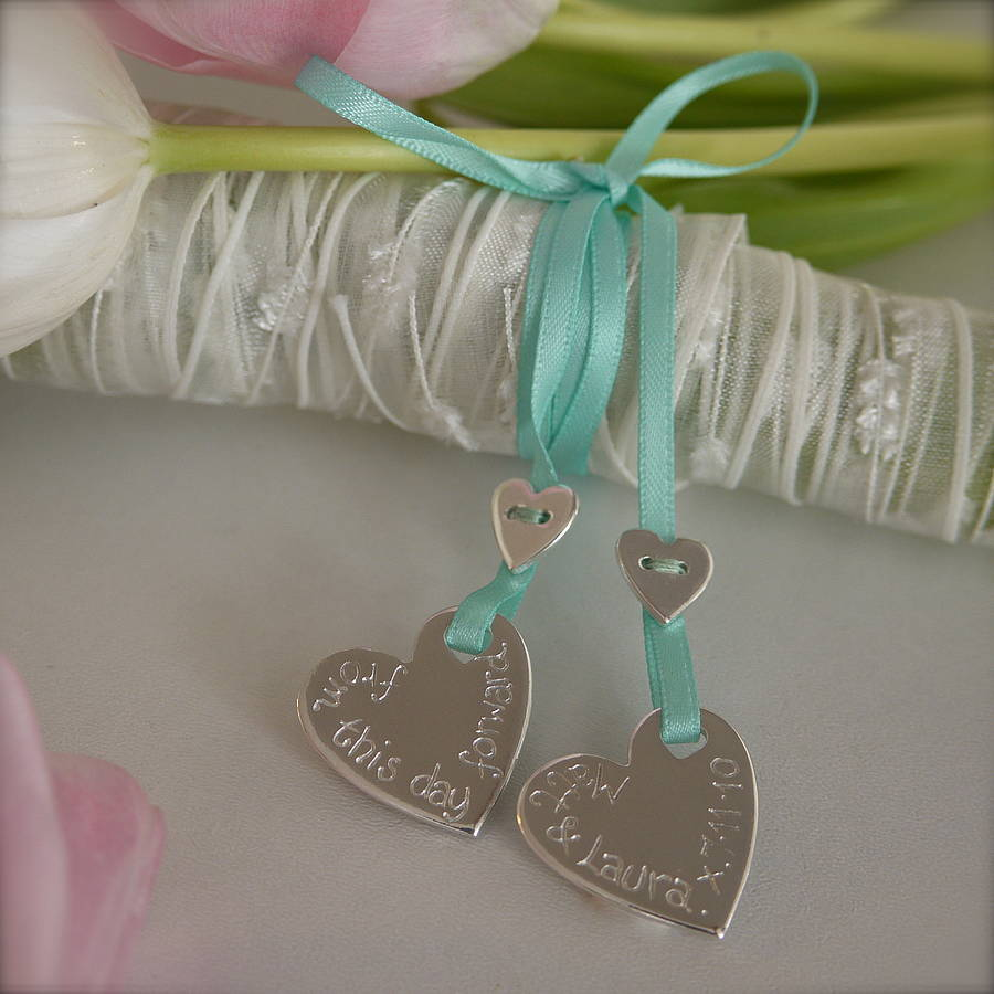 Personalised Silver Wedding Bouquet Charms
