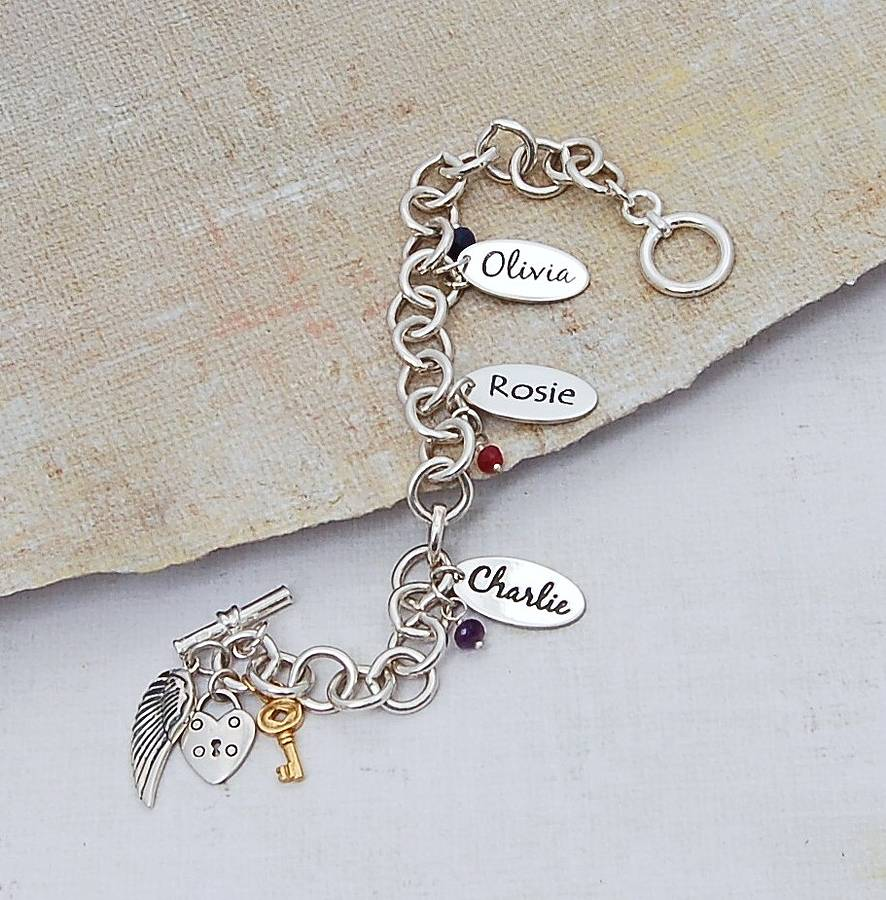 Name Charm Bracelets The Best Ancgweb Org Of 2018