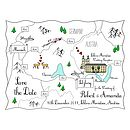 Print Your Own Colour Wedding Or Party Map