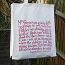 Virginia Woolf Canvas Shopping Bag