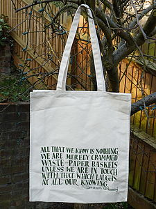 DH Lawrence Shopping Bag