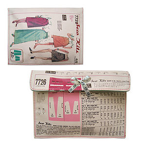 'Vintage Sewing Pattern' Make Up Bag - bags & purses