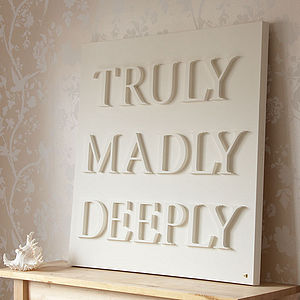 Personalised Truly Madly Deeply Canvas - art-lover
