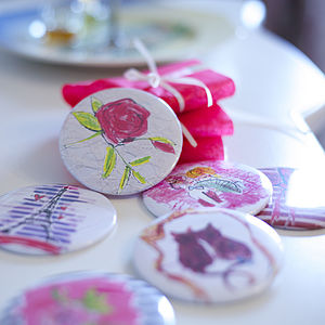 Luxury Pocket Mirror Favours Set
