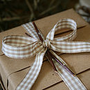Beige Gingham Box