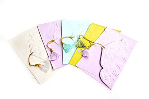 Pack Of Embossed Leaf Gift Envelopes