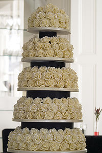 Mille Fleur Five Tier Wedding Cake