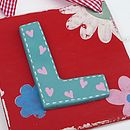 Personalised Red Flower Letter Tile