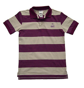 Striped Young Gentleman's Polo Shirt - t-shirts & tops