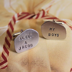 Personalised Organic Cufflinks - men's jewellery