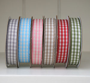 Gingham Cotton Ribbon 10 Metres