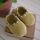 Organic Cotton Baby Slippers in Buttercup