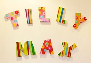 Striped And Spotty Decorative Name Letters - children's room
