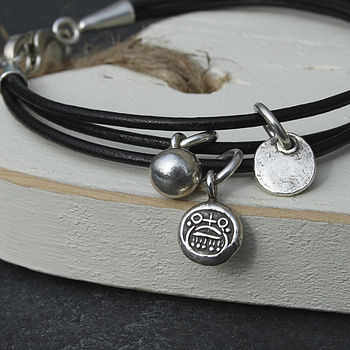Mens' Thai Silver Face Bracelet