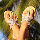 Gold Beaded Starfish Sandal