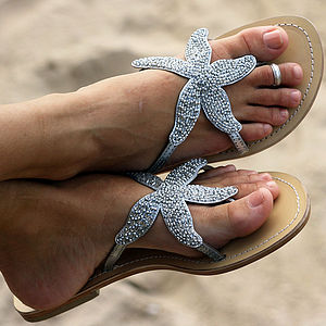 Aspiga Starfish Beaded Sandals - holiday shop