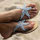 Silver Starfish Beaded Sandal