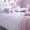 Butterflies Embroidered Organic Bedlinen