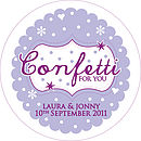 60 Personalised Wedding Confetti Stickers