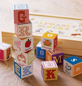 Wooden Alphabet Blocks - best gifts