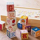Wooden Alphabet Blocks