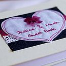 Personalised Embroidered Heart Guest Book