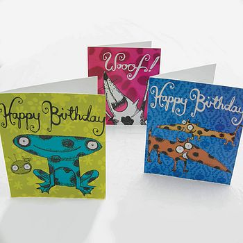 Animal Birthday Cards -3 for £5