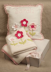 Personalised Pink Daisy Nursery Set - soft furnishings & accessories