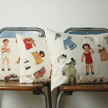 Vintage Paper Doll Cushions