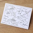 Wedding Or Party Map One Colour Postcard