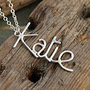 Personalised Name Pendant - Vertical