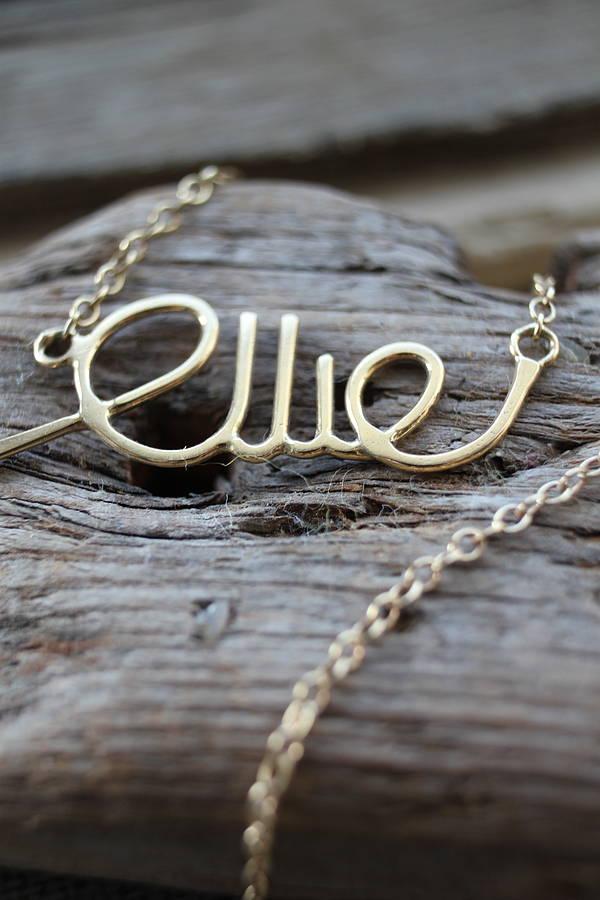 Personalised Word Bracelet By Marie Walshe Jewellery