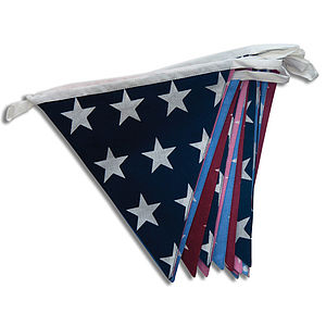 Stars Cotton Bunting - outdoor decorations