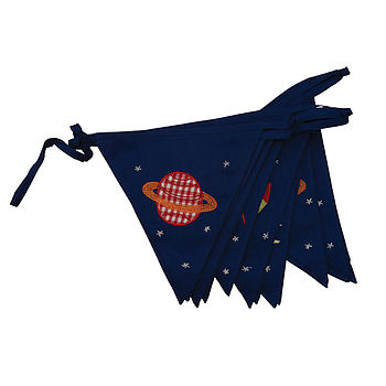 Fly Me To The Moon Cotton Bunting