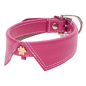 Saville Row Leather Dog Collar