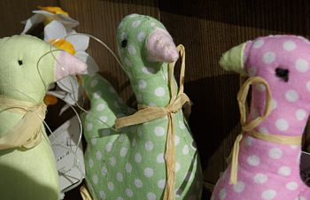 Fabric Goose Hanging Decoration REDUCED