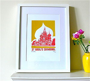 St Basil's Cathedral Silk Screen Print - posters & prints