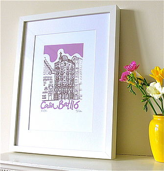 Casa Batllo Silk Screen Print