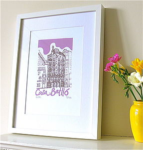 Casa Batllo Silk Screen Print - posters & prints