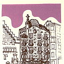 Detail of 'Casa Battlo' silk screen print