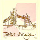 Detail of 'Tower Bridge' silk screen print