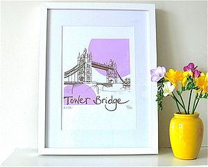 Tower Bridge Silk Screen Print