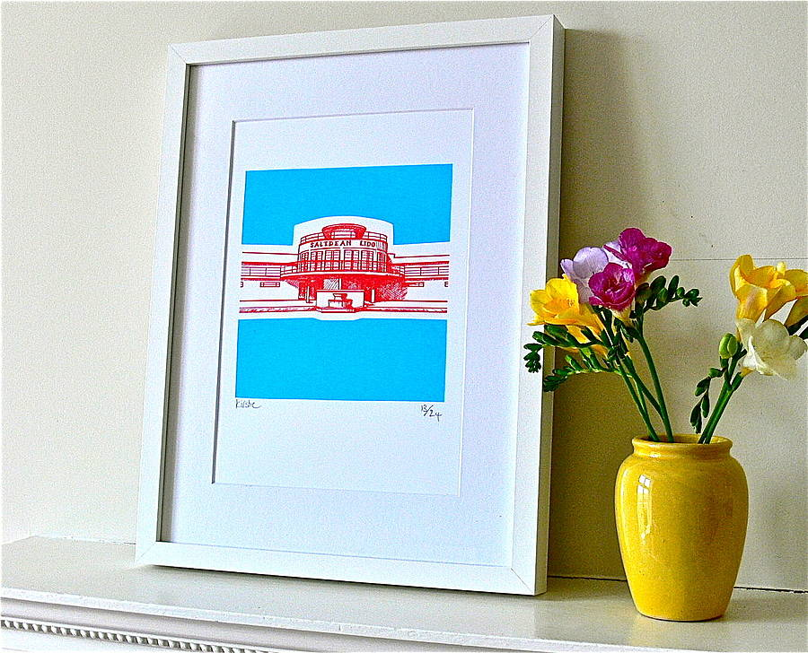 Saltdean Lido Silk Screen Print