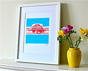 Saltdean Lido Silk Screen Print - posters & prints