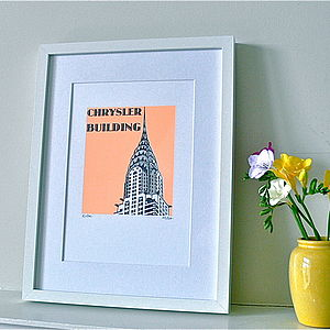 Chrysler Building Silk Screen Print - treasured places