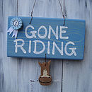 gone riding_blue wash with blue rosette