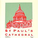 Detail of 'St Paul's Cathedral' silk screen print